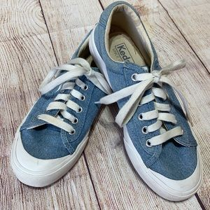 KEDS CHAMBRAY SNEAKERS. Size 6.5